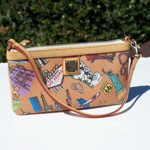 Dooney & Bourke Americana Wristlet Wallet Tan